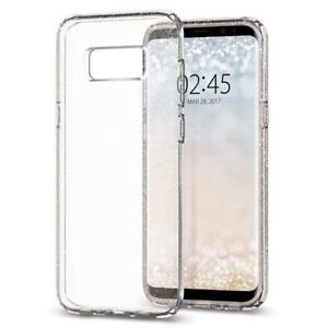 Luxury Clear Glitter Case and Free Tempered Glass Protector For Samsung S8
