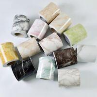 5M Marble Self Adhesive Wall Skirting Border Wallpaper PVC Watertight Home Decor
