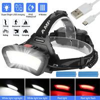50000LM USB Rechargeable LED Headlamp Flashlight Headlight Head Lamp Waterproof