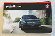 GENUINE VAUXHALL INSIGNIA OWNERS MANUAL HANDBOOK 2013-2017 BOOK !!!