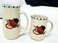 "Lot of 2 Vantage ""Coffee Break"" Cream,Pitcher,Creamer,apple"