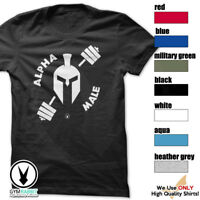 ALPHA MALE Gym Rabbit T Shirt Workout 7col Bodybuilding Fitness Lifting c953