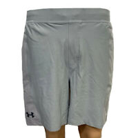Under Armour Mens Grey Shorts UA HeatGear Fitted Sports Training Running L