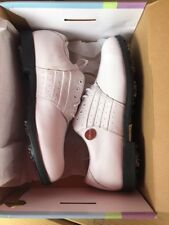 """2 The 9's """"Dashy"""" Women's White Golf Shoes Leather Waterproof New Size 8"""