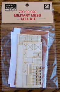 Z SCALE~VERY HARD TO FIND~MTL 799 90 920~MILITARY MESS HALL KIT~NEW IN PACKAGE