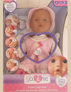 NEW You & Me Sweet Realistic Baby Doll Crying Tears Interactive Kids Toy Gift!