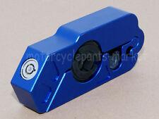 Universal Motorcycle Grip Lock Security Lever Lock Brake & Throttle Lock Blue