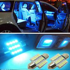 2 pcs 31mm BRIGHT Blue 9 LED Festoon Bulb Map Dome Interior Light 12V USA