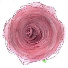 Ruffled Rose Decorative Pillow Throw Flower Shape Chiffon Couch Bed Sofa Cushion