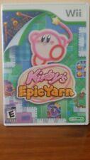 Nintendo Wii Games Lot, Kirby's Epic Yarn, Super Mario Bros, Galaxy 2