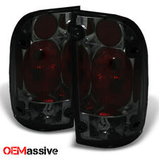 Fits 95-00 Toyota Tacoma Pickup Truck Smoked Smoke Rear Tail Lights Brake Lamps