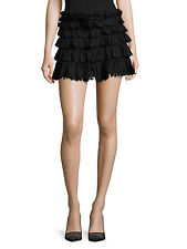 ANINE BING Black Tiered Ruffle Bohemian Skirt SAKS FIFTH AVENUE Size S / P NEW