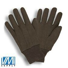 25 DOZEN 300 PAIR COTTON BROWN JERSEY WORK GLOVES 8OZ LARGE L MEN SIZE 8 OZ