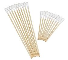 "PREMIUM COTTON TIPPED APPLICATORS 6"" NS SINGLE TIPPED WOODSHAFT 1000  DENTAL"