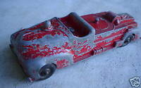 BIG Vintage Steel Hubley Kiddie Toy Fire Truck LOOK