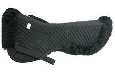 HQ Black Genuine Australia Smooth Sheepskin Saddle Pad Elegant Design HNF-bk-bk