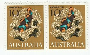 1966 'DECIMAL DEFINITIVE ISSUE - ANEMONE FISH' - MNH BLOCK of 2 x 10 cent STAMPS