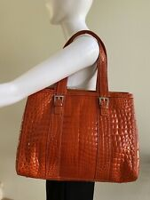 COCCO Genuine Crocodile Orange Shoulder Bag Handbag Tote