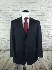Hickey Freeman Two Button Sport Jacket Coat Size 42L Blue Working Cuffs Blazer