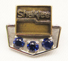 Shaklee 10K Pin with Three Blue Stones