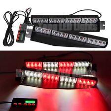"""34"""" LED Warning Emergency Visor Strobe Split Deck Dash Flash Light Bar Red White"""
