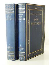 Ranke - Der Mensch - 3. Auflage (1923) in 2 OLwd-Bänden, Chromos+Aquarelle