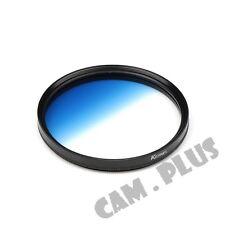 67mm Diameter Optical Gradual Blue Lens Filter For Sony Pentax Canon Nikon Fuji