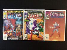 3 Issue Lot - Crystar The Crystal Warrior 1, 2, 4