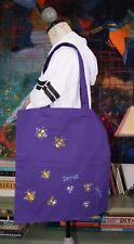 Viola Tote Bag con scritto a mano Bees & Libellule