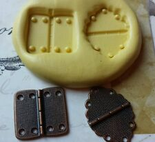 2 Part HINGE Flexible Silicone Mold for polymer clay, wax, candy, fondant, resin