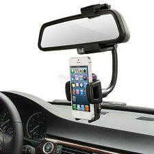 1PC 360° Car Rearview Mirror Mount Holder Stand Cradle For Cell Phone GPS
