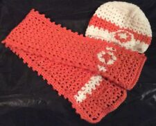 Handmade crochet winter set for baby girl - hat and scarf