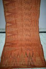 Vintage Brown Pure Tussar Silk Sari Zari Hand Woven Mauve Saree Ethnic Textile