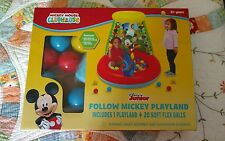 DISNEY JUNIOR MICKEY MOUSE CLUBHOUSE PLAYLAND BALLPIT WITH 20 BALLS NEW