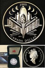Canada 2000 Large Silver Proof $1-Millenium-Voyage of Discovery-Space/Nice box