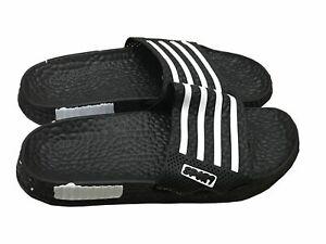 Mens Slip On Sport Sandals Slides Rubber Flip Flops Shower Slippers Black 7
