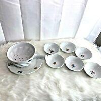 Cordon Bleu BIA 8 pc Set 6 Berry Fruit Bowls 1 Bowl Colander & Underplate