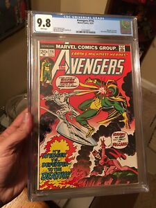 Avengers #116 CGC 9.8 White Pages! Hard to Find In This Grade! Silver Surfer!