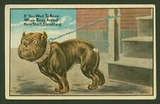 Bulldog - If you want to know who's the boss around here... Vintage Postcard USA