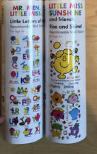 Mr Men Little Miss Wall Stickers Two Sets Alphabet Numbers Christmas Gift Idea