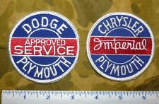 Lot of Two Vintage Dodge-Chrysler & Dodge/Plymouth Embroidered Shirt Patches