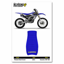 2014 YAMAHA YZF 450 SEAT COVER Pleated GRIPPER STYLE All Blue by Enjoy MFG