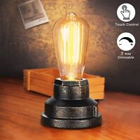 Touch Control Table Lamp Vintage Desk Lamp Small Industrial Touch Light Bedside
