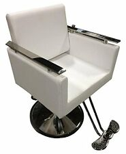 New White Contemporary Hydraulic Barber Chair Styling Salon Spa Beauty DS-SC2200