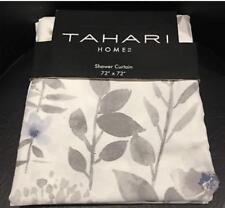 "Tahari Home Floral Fabric Shower Curtain (72"" x 72"") Blue Taupe Lofty"