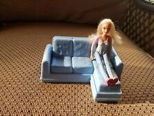Fisher Price Loving Family Dollhouse 2014 Girl Teen with Blue Lounging Sofa