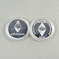 Silver Plated Commemorative Coin Collectible Golden Iron ETH Ethereum Miner Coin