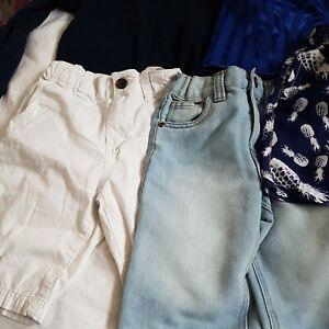 Bundle Boys Next H&M etc Various Shorts including Denim Long Sleeve Top Age 6-7