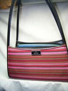 """Small Classic Shabby Chic Pink Stripe Gucci """"Knock Off"""" Strappy Hand Bag China"""