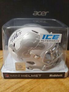 "Golden Tate Signed Detroit Lions ""Ice"" Mini Helmet. Beckett COA. NO RESERVE!!"